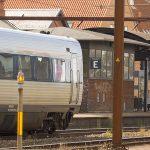 Blå kuffert lukkede Slagelse Station