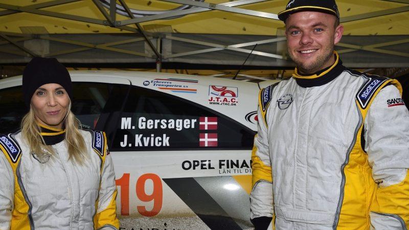 Rallycodriveren Jeannette Kvick fra Slagelse og Marco Gersager fra Rødovre