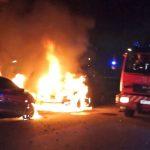 To biler sat i brand på Egersundvej ved Motalavej