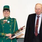 Slagelse Gardens tambourmajor hædres med fortjenstmedalje