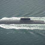 Russiske militærfartøjer under Storebæltsbroen