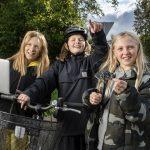 Elever i Sørbymagle øver sig i at gøre skolevejen sikker