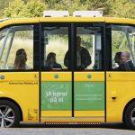 Den førerløse bus kører nu på offentlig vej i Slagelse by